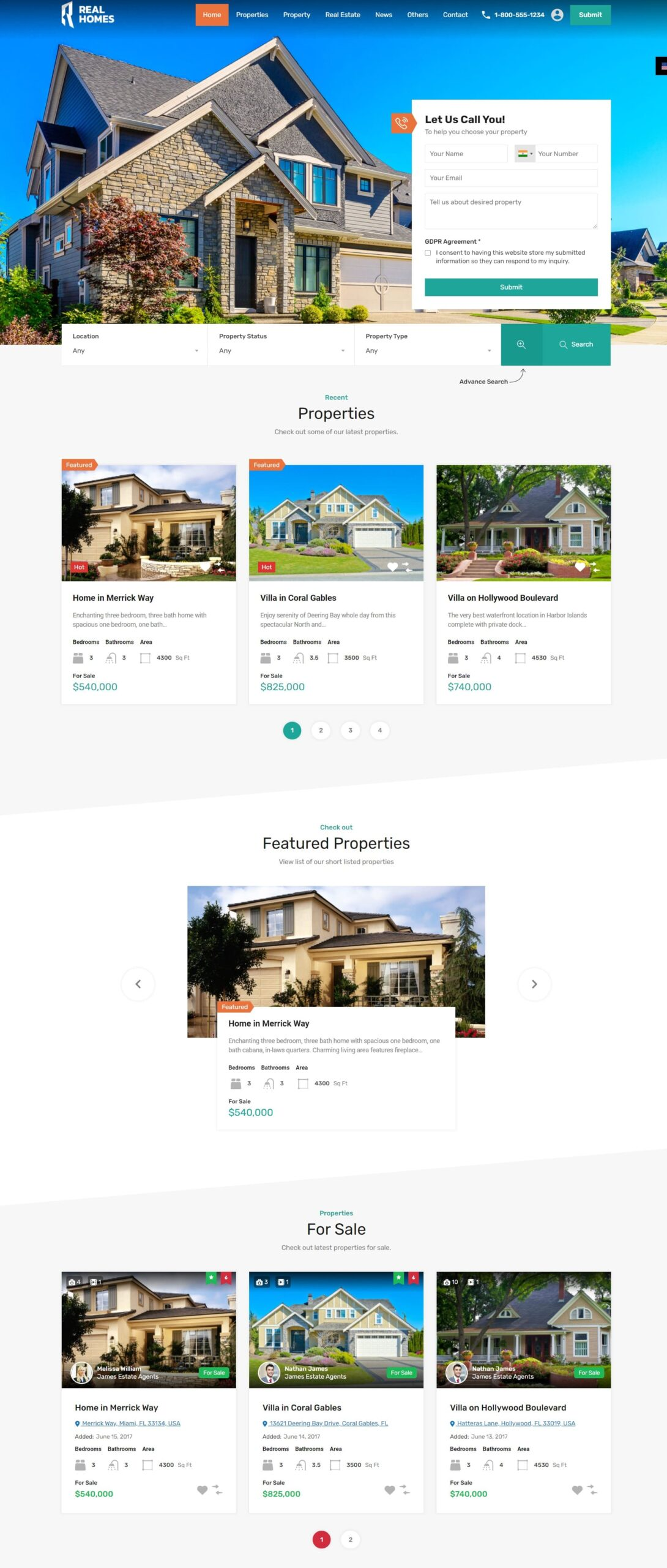 real estate project preview-real homes