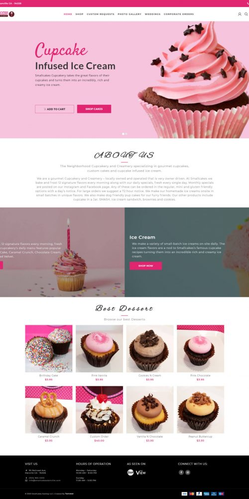 Ecommerce website preview